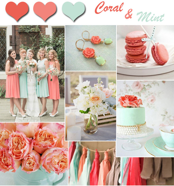 Mint Wedding Ideas: Fresh-coral-and-mint-wedding-colors-for-spring-and-summer