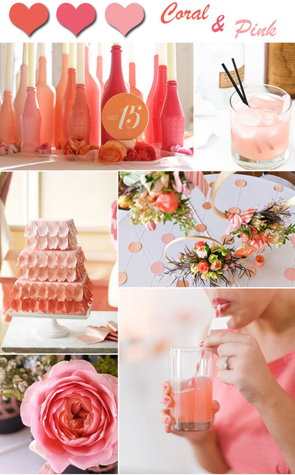 Romantic Coral And Pink Ombre Wedding Color Ideas 2014 Outlandish