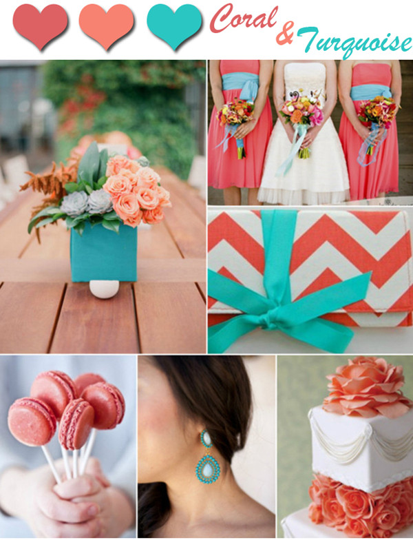trending-coral-and-turquoise-wedding-color-inspirations-2014 ...