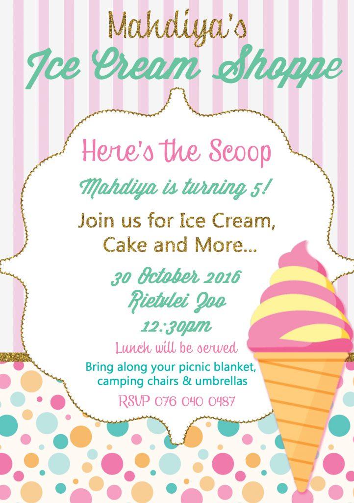 Mahdiya's Ice Cream Shoppe Biirthday Party