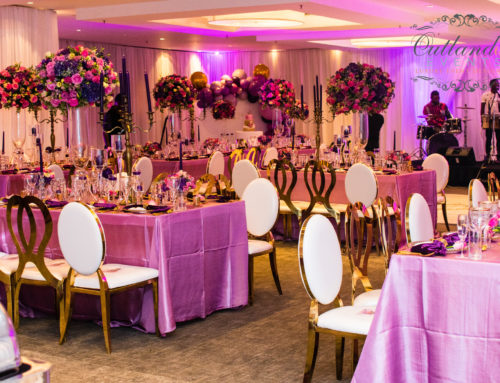 Luxe 40th Birthday Soirée|  Purple, Pink & Gold