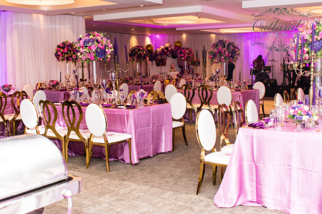 Luxe 40th Birthday Soirée | Purple Pink & Gold