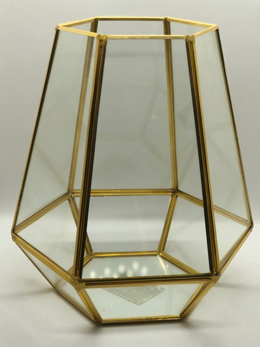 Gold Geometric Vase Hexagon The Decor Style Studio Decor Hire In Johannesburg