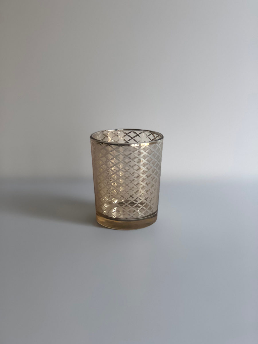 The Decor Style Studio - Gold Candle Votive Geo Lines For Hire