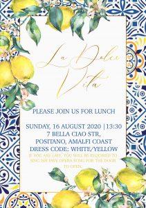 Dolce & Gabbana Amalfi Coast / Positano Inspired Birthday Lunch