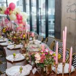 Classical Pink and Gold 40th Birthday Dinner