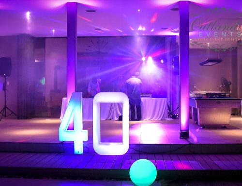 Neon 40th Birthday Party
