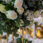 Intimate White & Gold Wedding Reception & Ceremony