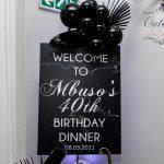 Mbuso's Monochrome 40th Birthday Dinner